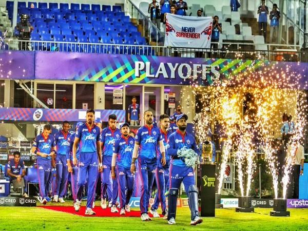 Rishabh Pant along with DC teammates (Photo/ Rishabh Pant Twitter)