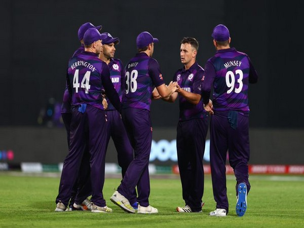 Scotland in action against Oman (Photo/ ICC Twitter)