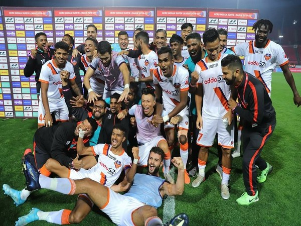 FC Goa players celebrating after qualifying for the AFC Champions League. (Photo/FC Goa Twitter)