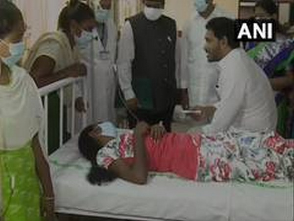 Andhra Pradesh Chief Minister YS Jagan Mohan Reddy visiting Eluru Government Hospital in West Godavari district in December, 2020. [File Photo/ANI]