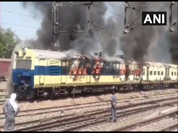 The cause of the fire has so far not been ascertained. (Photo/ANI)