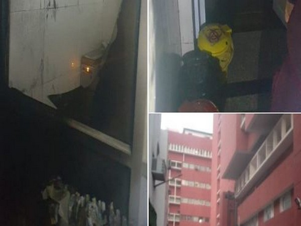 Visual from AIIMS where fire took place on Saturday. (Photo/ANI)