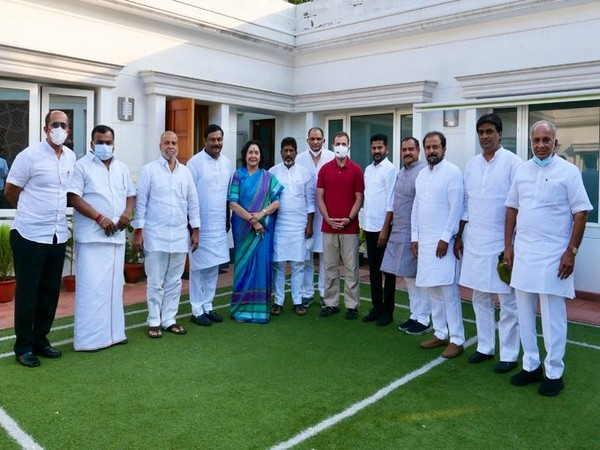 Telangana Congress leaders met party leader Rahul Gandhi in Delhi today. (Photo/Congress party)