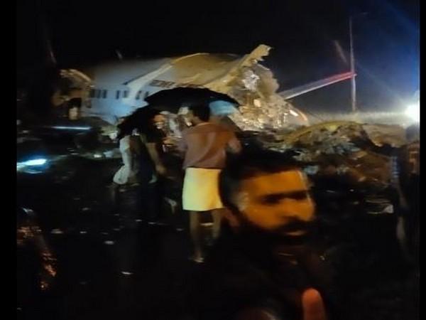 The Dubai-Kozhikode Air India flight (IX-1344) skidded while landing at the Karipur airport. (Photo: ANI)