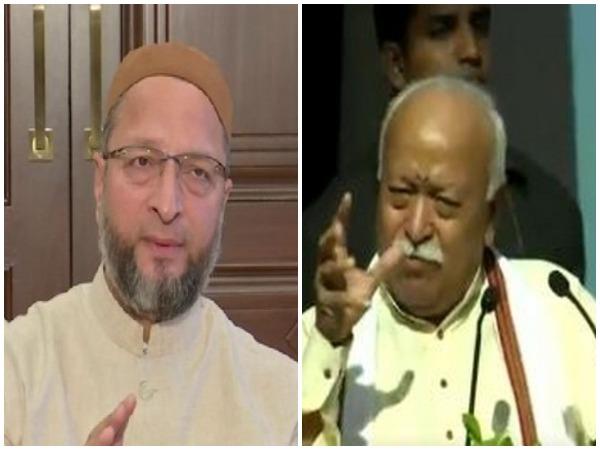 AIMIM chief Asaduddin Owaisi and RSS chief Mohan Bhagwat (File photo)