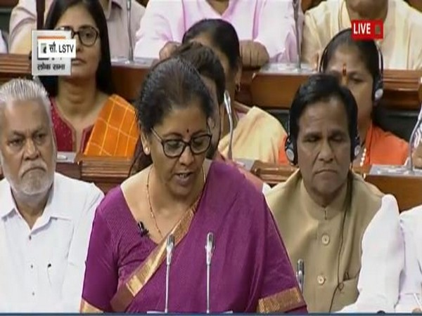 Sitharaman presenting the Budget in Parliament on Friday (Image Courtesy by LSTV)