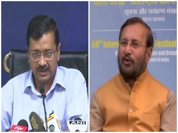 Delhi Chief Minister Arvind Kejriwal (left) and Union Minister Prakash Javdekar (right)