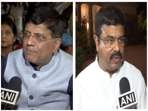 Union Minister of Commerce Piyush Goyal and Minister of Steel Dharmendra Pradhan (File Photo)