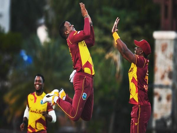 Fabien Allen celebrates after taking wicket  (Photo/ ICC Twitter)