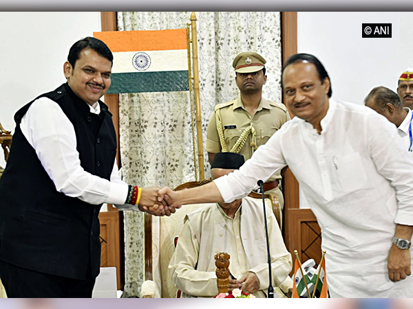 Maharashtra Chief Minister Devendra Fadnavis and Deputy Chief Minister Ajit Pawar (Photo/ANI)