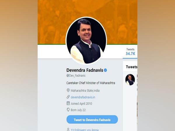 Devendra Fadnavis updates his Twitter bio.