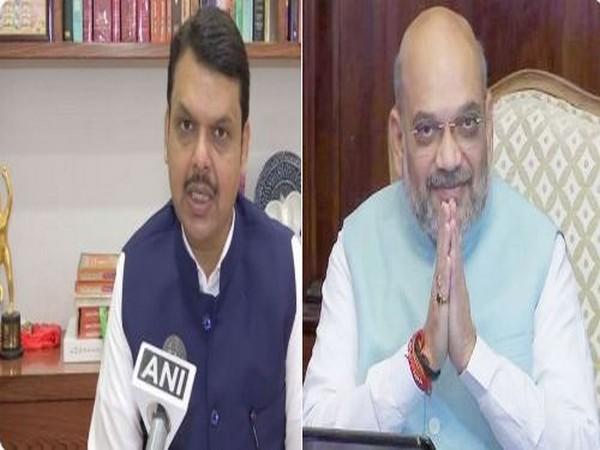 Maharashtra Chief Minister Devendra Fadnavis (Left), Union Minister Amit Shah (Right) [File Image]