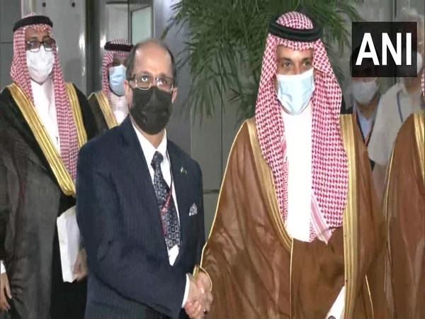 Saudi Arabia's Foreign Minister Prince Faisal bin Farhan Al Saud arrived in New Delhi on Saturday. (ANI)