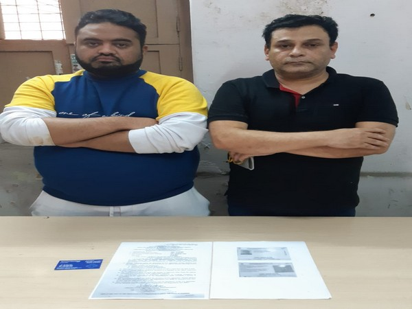 The duo arrested for posing as doctors in Hyderabad. Photo/ANI
