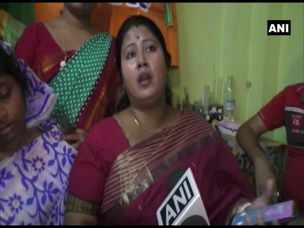 BJP district President Falguni Patra speaking to ANI in North 24 Parganas on Thursday. Photo/ANI