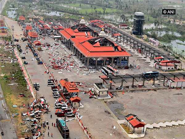 An aerial view of destruction caused by cyclone Fani in Odisha. (Photo/ANI)