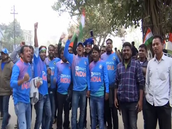 Fans outside the Barabati Stadium to watch match between India and West Indies here on Sunday.