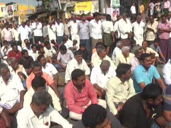 File photo of farmers protest in Andhra Pradesh