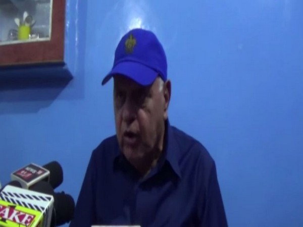 National Conference leader Farooq Abdullah talking to reporters in Kathua, Jammu and Kashmir, on July 1, 2019. Photo/ANI