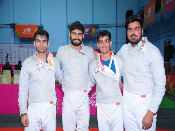 Guru Nanak Dev University's fencing team.