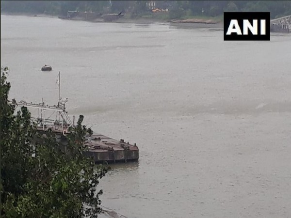 Ferry services suspended at Bichali Ghat. (Photo/ANI)