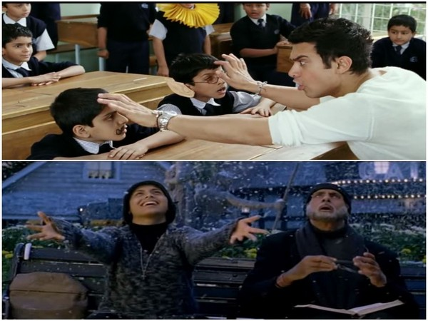 Stills from 'Taare Zameen Par' (Top) and 'Black' (Bottom) (Image courtesy: YouTube)