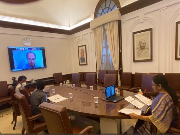 Union Finance Minister Nirmala Sitharaman during NDB meeting in New Delhi on Monday. Photo/ANI