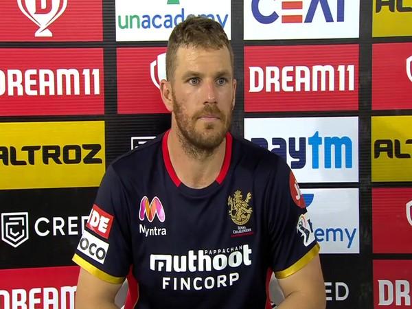 RCB batsman Aaron Finch