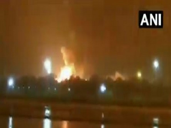 A fire broke out at an Oil and Natural Gas Corporation (ONGC) plant in Surat. Photo/ANI