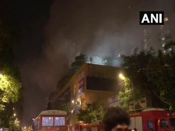 Major fire breaks out in Mumbai mall on Thursday. Photo/ANI