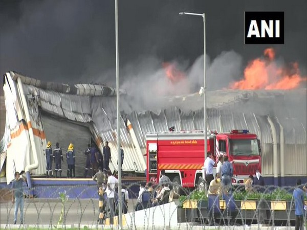 A major fire broke out at a factory in GIDC in Ahmedabad on Wednesday. Photo/ANI