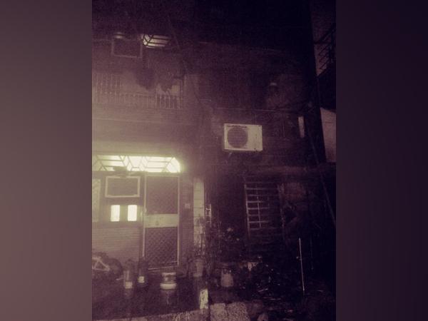 Visual of fire from Delhi's Rohini.  (Photo/ANI)