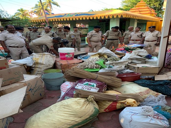 Police conducted raids and seized large quantity of raw materials used for manufacturing firecrackers at illegal units in Cuttack