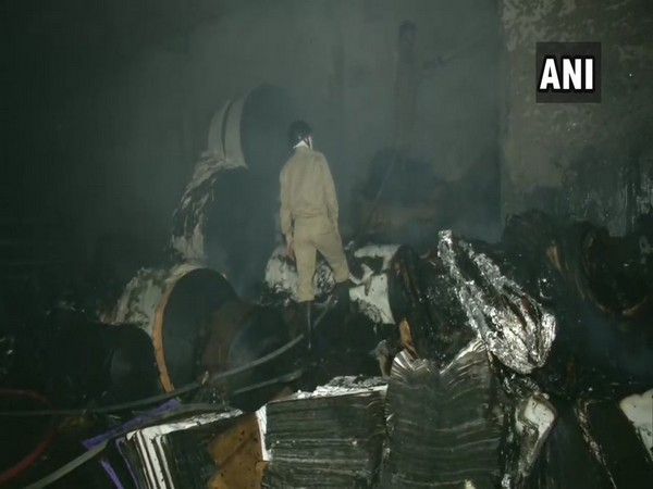 A visual from the fire spot in Delhi where the cooling process is underway.