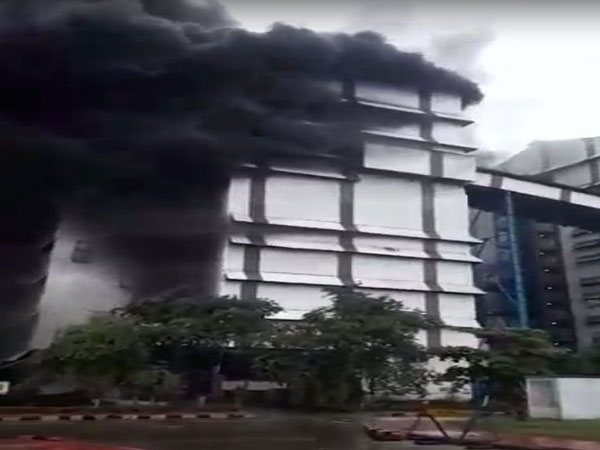Visual from a fire at the VAL plant in Odisha's Jharsuguda