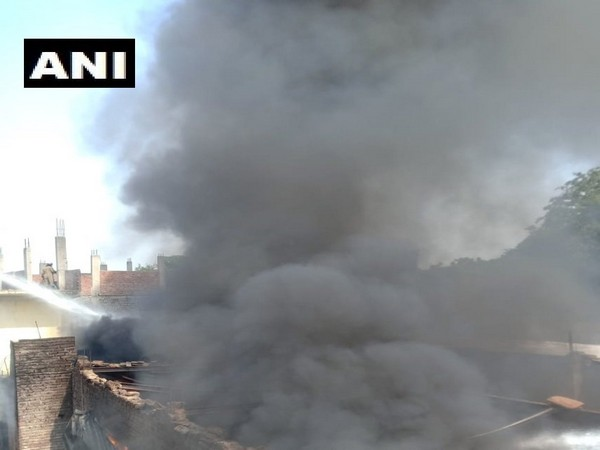 Visual from the chemical warehouse in Shastri Park. Photo/ANI