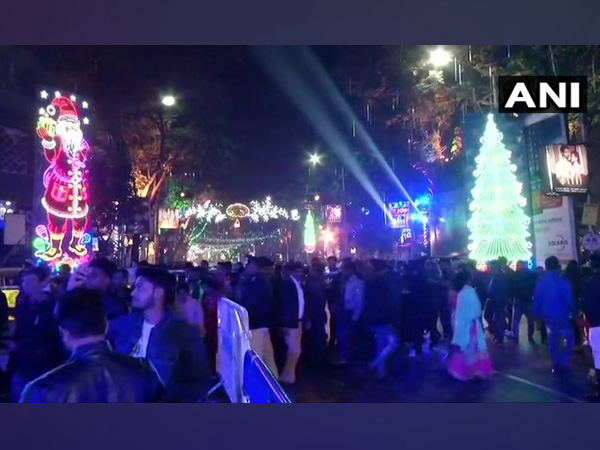 People celebrating New Year's eve with joy and fervour