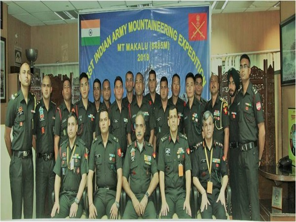 First Indian Army Mountaineering Expedition to Mt Makalu flags off