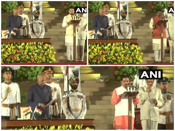 The swearing-in ceremony at Rashtrapati Bhavan in New Delhi on Thursday.