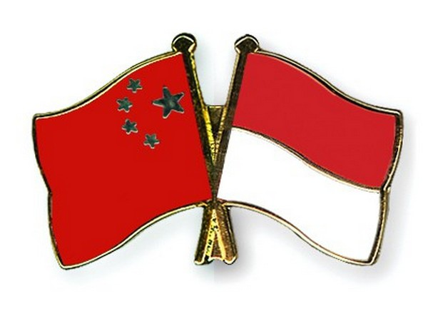 Chinese and Indonesian flags
