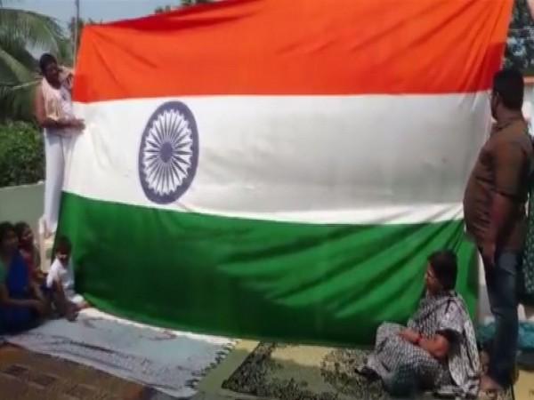 National Flag designed by Rudrakshala Ramalinga Satyanarayana. Photo/ANI