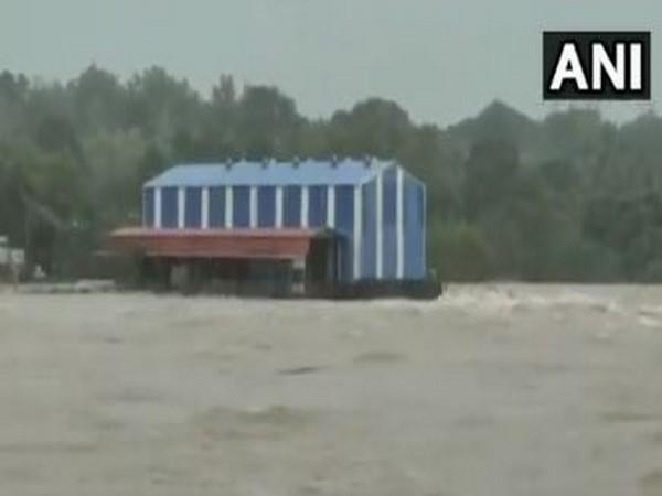 Visual from Udupi, Karnataka, which is facing a flood-like situation after heavy rains. [Photo/ANI]