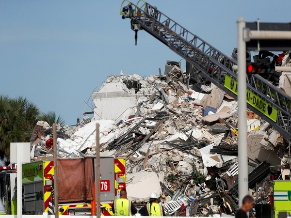 Collapsed building in Surfside, Florida (Photo Credit - Reuters)
