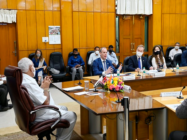 Foreign Secretary Dominic Raab meeting Karnataka Chief Minister BS Yediyurappa