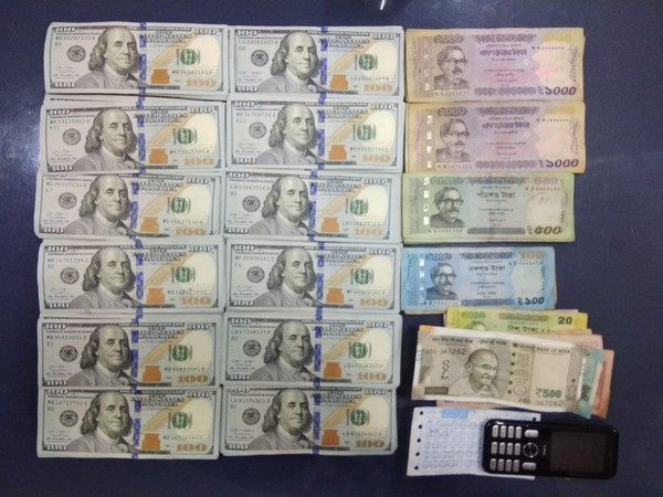 Foreign currency recovered from the possession of the Bangladeshi national by the police in Kolkata. Photo/ANI