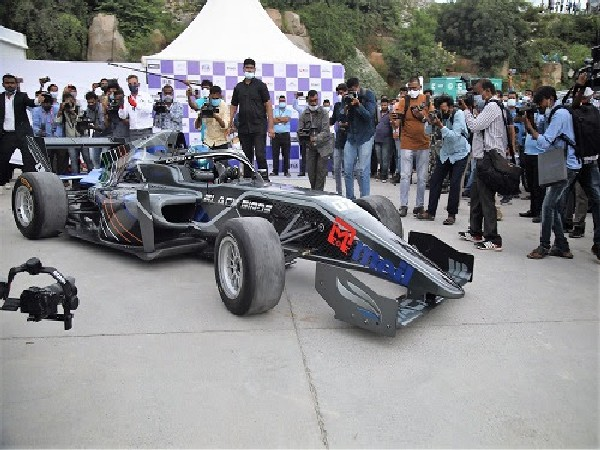 After the launch of Formula Regional indian Championship, Part of Curtain Raiser F3 car race starting from Madhapur