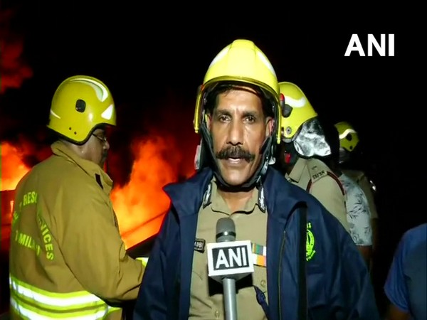 Sylendra Babu, Additional Director, Fire and Rescue Service talking to ANI on Saturday.