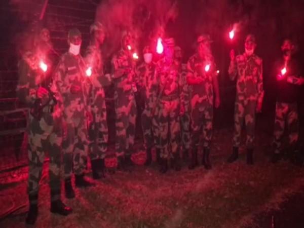 BSF Jawans celebrate Diwali on India-Bangladesh border. [Photo.ANI]