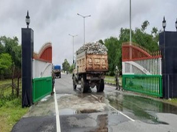 Trade between India and Bangladesh resumes through Fulbari Integrated Check Post on Saturday.
