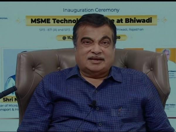 MSME Nitin Gadkari during the inaugurating event. (Photo/ANI)